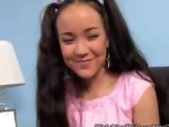 cute oriental daughter screwed by black boy
