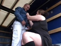 bbw and old fuck in truck