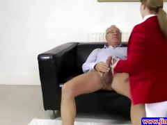 stylish amateur plowed by old stud