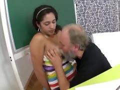her tricky old teacher bonks her shaved legal age